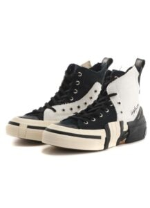LAYERED HIGH TOP SNEAKERS WHT