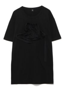 CORD EMBROIDERY ROUND NECK T-SHIRT