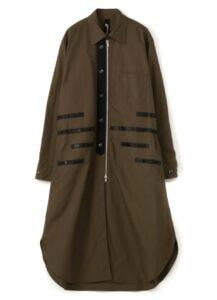 79A Cotton Canvas Zipper Long Tape Shirt