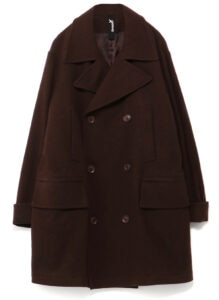 Vintage Flannel Big Pea Coat