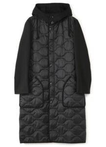 T/W Gaberdine Quilted Hood Coat