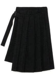 Vintage Flannel Front Pleats Wrap Style Skirt