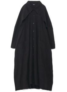 BIG DRESS WITH DESIGNED STORM FLAP