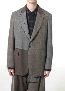 Crazy tweed Peak Lapel Jacket