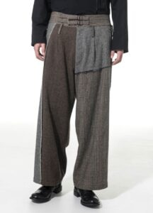 Crazy tweed One Tuck Waist Adjust Buggy Pants