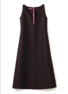 SILK WOOL TWILL FLARED DRESS