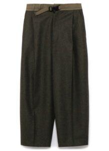 FLANNEL TOP BELT PANTS