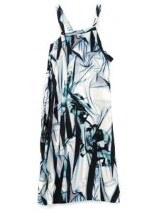 LACE/FLORAL PRINTED APRON BELT DRESS