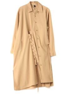 GABARDINE COTTON LACE UP DRESS
