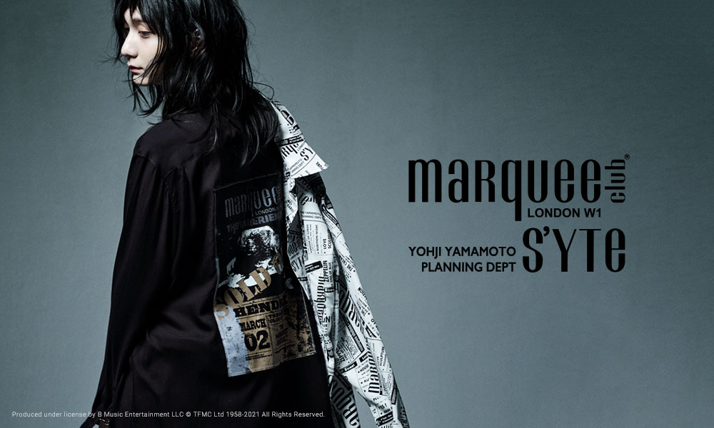S'YTE × marquee club(R) COLLABORATE COLLECTION