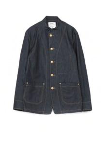 Denim stand collar Coveralls Jacket