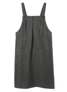 FRONT TUCK APRON DRESS