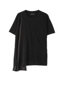Cotton Lyocell Jersey Asymmetric Drape T-Shirt