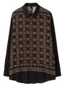 Rayon Bandana pattern C Collar shirt