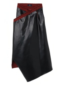 SUNDRIED DYED WASHED LINEN WRAP SKIRT