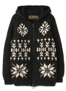 No.111<br/>COWICHAN STYLE-HOODED KNIT